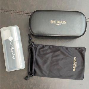 Balmain paris sunglass case & bag